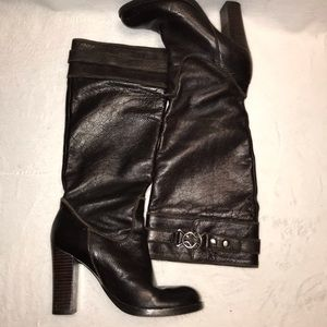 Nine West leather heeled boots